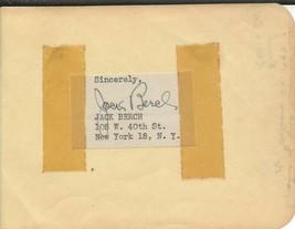 Jack Berch Signed Vintage Album Page - $49.49