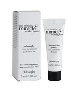 Philosophy Anti-Wrinkle Miracle+ Worker Primer, Travel Size 0.24oz/7ml - SEALED - $10.00