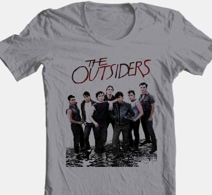 The Outsiders T-shirt 1980s retro style movie 100% cotton grey tee Free Shipping