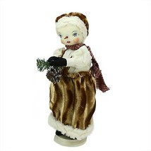 "15"" Gathered Traditions ""Fannie"" Snow Girl Christmas Figure with Stand - $43.55"