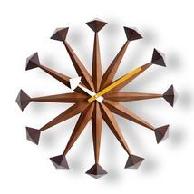 George Nelson Polygon Clock Daiva Walnut Brown Designer Japan New - €230,01 EUR