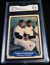 1982 Fleer Reggie Jackson GMA Graded 5.5 VG-EX+ baseball card number 646 - $9.99