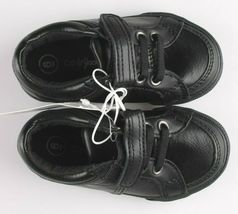 Cat & Jack Toddler Boys' Huxley Black Faux Leather Sneaker Shoes 6 US NWT image 6