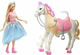 Barbie - Princess Adventures Prance And Shimmer Horse And Doll Rubia Girl Boy - $307.67