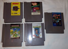 Nintendo Games Vtg Teenage Mutant Ninja Turtles Werewolf Last Warrior Ni... - $27.95