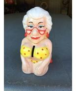 Biddy's old lady boob ceramic coin bank  - $26.99