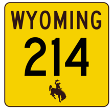 Wyoming Highway 214 Sticker R3460 Highway Sign - $1.45+