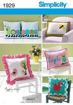 Simplicity Pattern 1929 Appliqued Pillows Designed by Giggles and Toots - $13.48