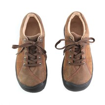 Keen Brown Leather Lace Up Fashion Sneakers Walking Sport Shoes Womens 8 - $34.52