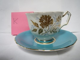 AYNSLEY TEA CUP AND SAUCER              K - $40.00