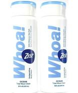 2 Zest Whoa Ocean Tidal Wave Clean Invigorating Marine Mineral Body Wash... - $17.99
