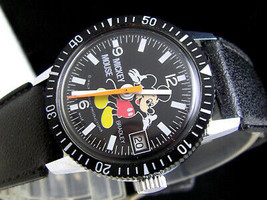 70's Switzerland BRADLEY Mickey Mouse diver antique limited F/S JAPAN ANIME - $329.08