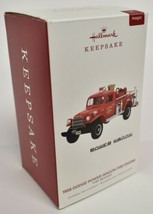 Hallmark Christmas Ornament 2019 Brigade 1958 Dodge Power Wagon Fire Engine - $28.41