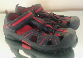 Men's Merrell Hydro Water Shoes  Size 6M Gray Red Leather Strapped Outdoor - $24.03