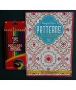 Adult Coloring Book plus Colored Pencils KAPPA Designer Series Patterns NEW - $8.99
