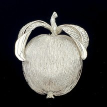 Sarah Coventry Adam's Delight Silver Apple Brooch Pin - $11.88