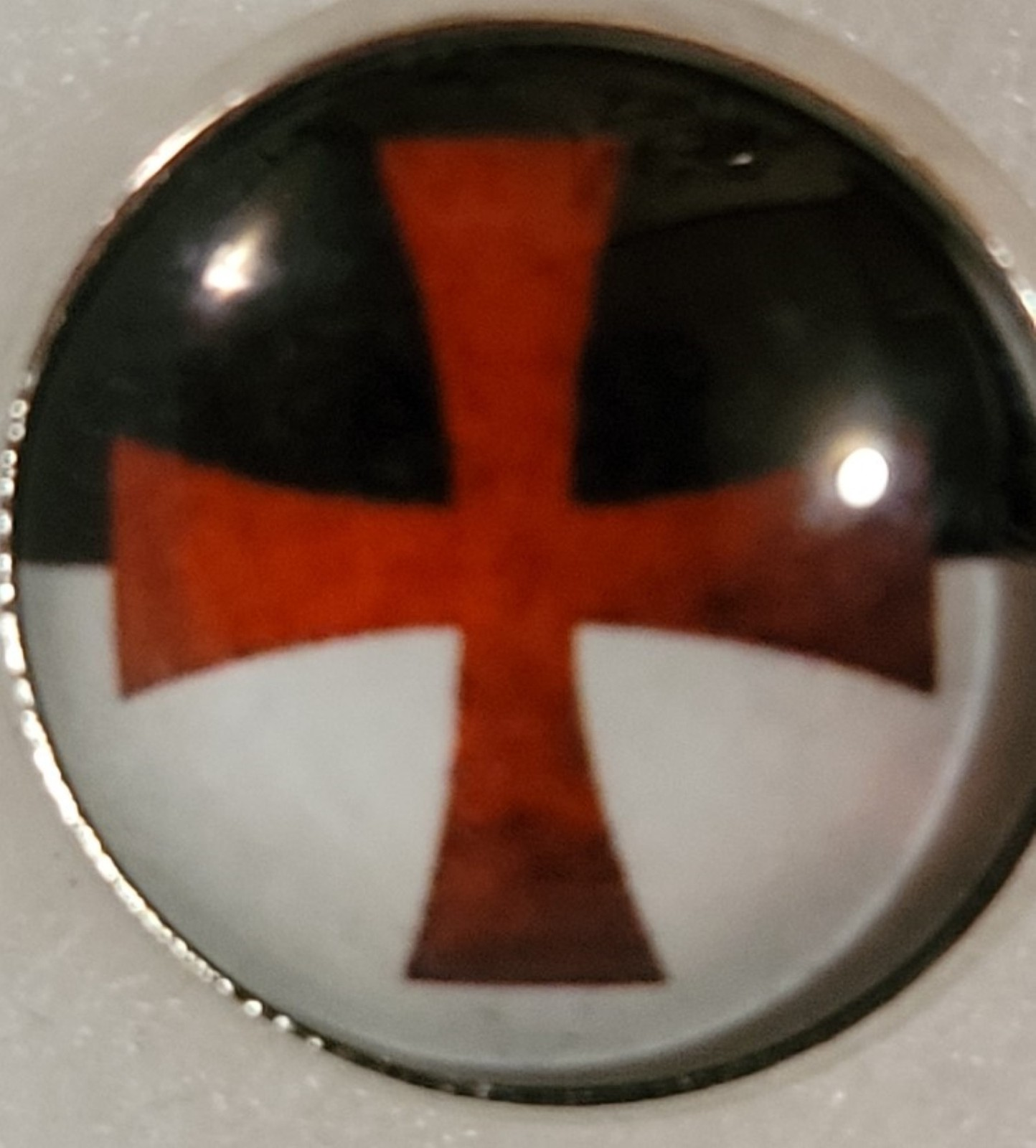 Knights Templar Blood Red Cross Lapel Pin