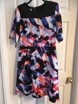 MAGGY L SZ 10 A-LINE BLACK & FLORAL DRESS NWT - $21.06