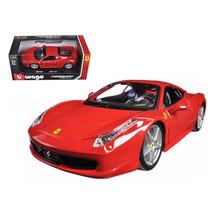 Ferrari 458 Italia Red 1/24 Diecast Model Car by Bburago 26003rd - $31.91