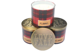 Bath & Body Works Flannel 3-Wick Jar Candle 14.5 oz, (Set of 3) - $73.89