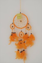Dream Catcher Orange Feather Home Decoration - $12.00