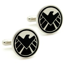 S.H.I.E.L.D. CUFFLINKS Super Hero Comic w GIFT BAG Pair SHIELD Avengers ... - $8.88