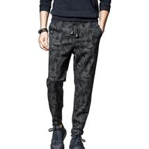 Elastic Sweatpants Men Casual Army Tactical Military Camo Pants Fitted Silm Desi - $47.55