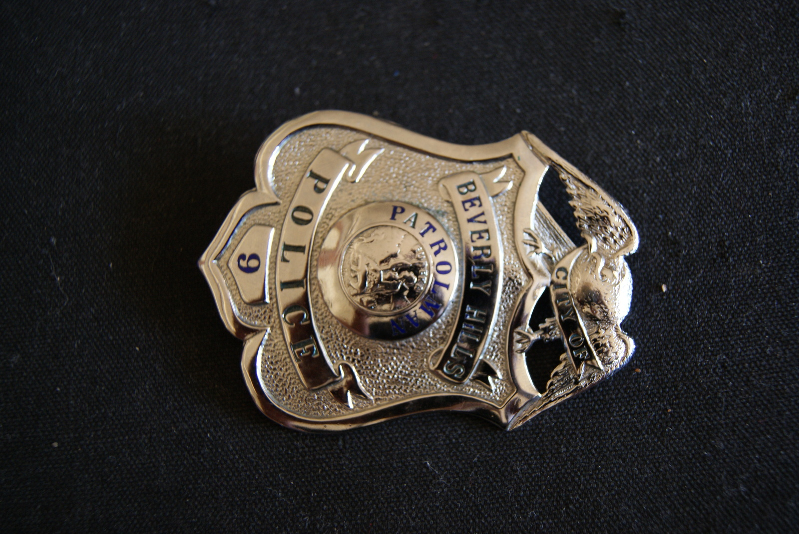 Beverly Hills Cal,Scarce Antique Police Badge W/ Wallet,.Hmk L.A Rubber Stamp Co image 5