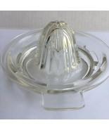 Vintage Clear Glass  5 inch Citrus Juicer Reamer Square Handle Cottagecore - £10.49 GBP