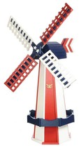 6½ FOOT JUMBO POLY WINDMILL - Patriotic America Working Weathervane Amis... - $695.60 CAD