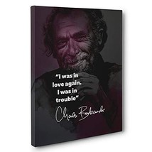 Charles Bukowski Motivational Quote Canvas Wall Art - $34.65