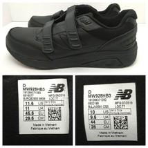 New Balance Black Walking Shoe Leather Comfort Mismatch Size L 11.5 R 10 - $49.45