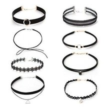 8 Pcs Choker Collar Girls Lady All-Purpose Style Fashion Necklace