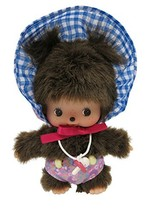 Monchhichi Bebichhichi ×?Fafa?Plush Doll Mascot Girls 15cm Japan Import - $40.47