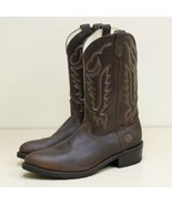 Double H Western Leather Cowboy Work Boots Mens Size 13 Brown Full Grain... - $98.96