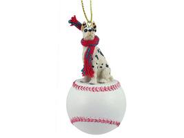Great Dane Harlequin Baseball Ornament - $17.99