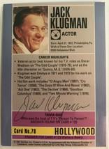Jack Klugman (d. 2012) Signed Autographed 1991 Hollywood Walk of Fame Tr... - $19.99