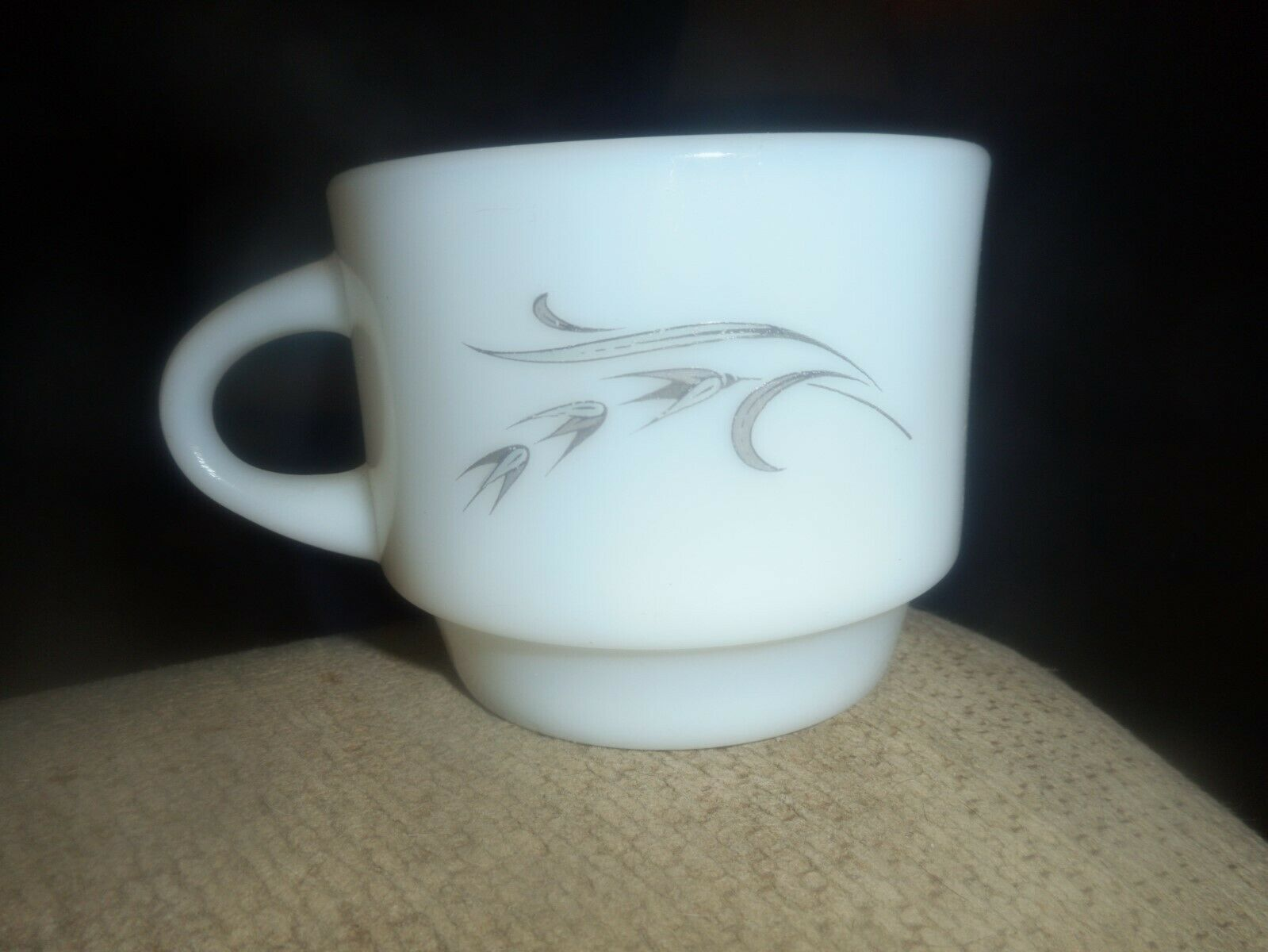 Primary image for Vtg Mid Century Anchor Hocking Oven Proof Dinnerware Silver Wheat Coffee Tea Cup