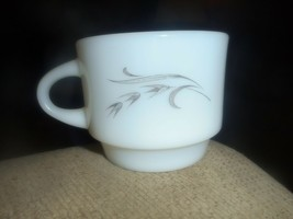 Vtg Mid Century Anchor Hocking Oven Proof Dinnerware Silver Wheat Coffee... - $9.49