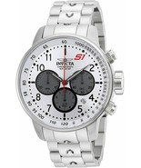 BRAND NEW INVICTA 23083 S1 RALLY SILVER STAINLESS STEEL CHRONOGRAPH MEN'... - £131.51 GBP