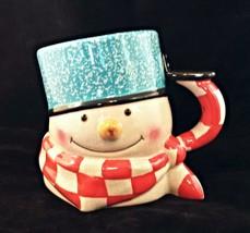 Hallmark Mitford  3D Snowman Holiday Christmas Coffee Cup Mug Jan Karon 96 USA - $13.33