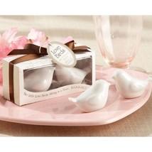 24 Lovebirds Ceramic Salt and Pepper Shakers Bridal Shower Favors Wedding Favors - $65.93