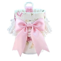 PANDA SUPERSTORE Cute Pink Floral Bowknot&Lace Car Cup Holder Storage Bucket/Org