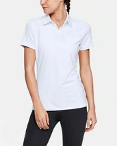 Under Armour Women's Zinger Short Sleeve Polo, White (100)/White, Small - $37.62