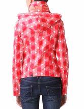 Bench UK Urbanwear Womens BBQ Barbecue Star Red Jacket w Hood BLKA1552 NWT image 6
