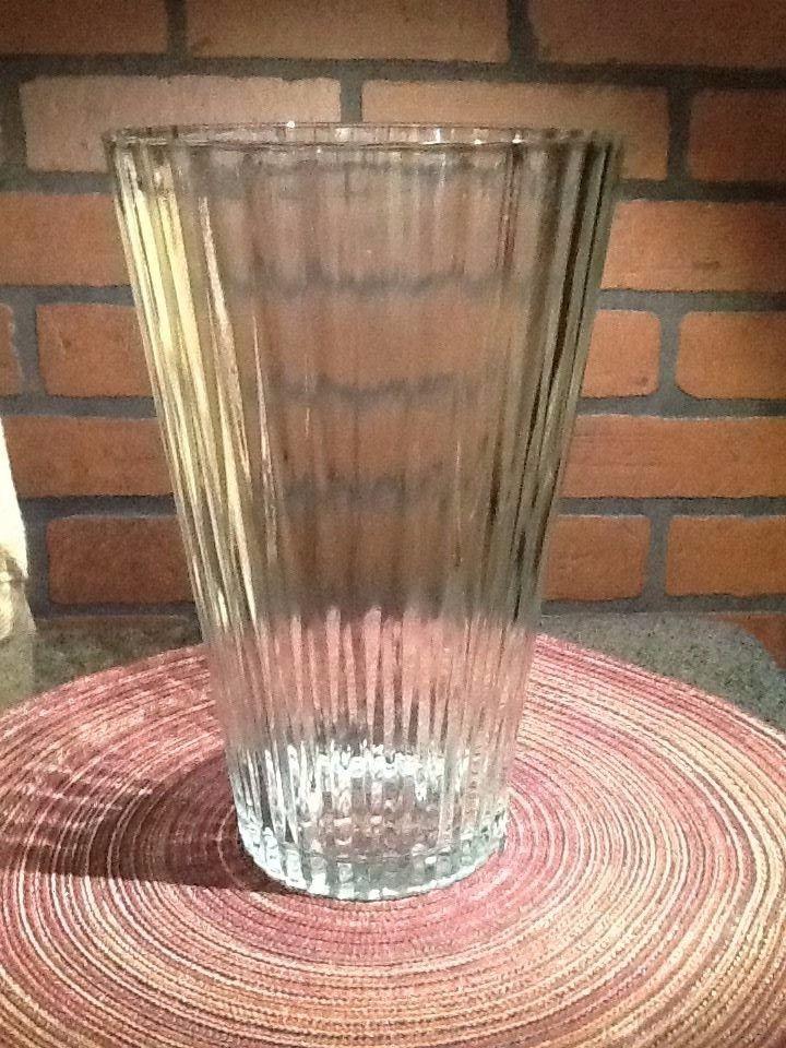 Vintage Pressed Glass Vase Large Bar Design And 24 Similar Items