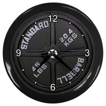 Dumbbell Barbell Wall Clock  Decorative Wall Clock (Black) Gift 15137019 - $18.99