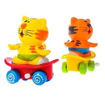PANDA SUPERSTORE Set of 2 Cute Animals Wind-up Toy for Baby/Toddler/Kids, Tiger(