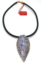 Necklace ANTICA MURRINA VENEZIA, CO141A06, Tail Peacock,Feather Pendant,... - $71.46