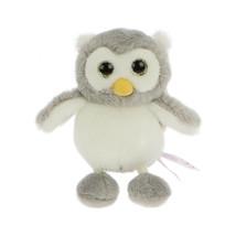 NICI Owl Boy Olinka Gray White Stuffed Animal Beanbag Key Chain 4 inches 10 cm - $11.00